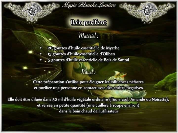Bain Purifiant  Page Facebook : Spiritualité, Magie Blanche, Lumière