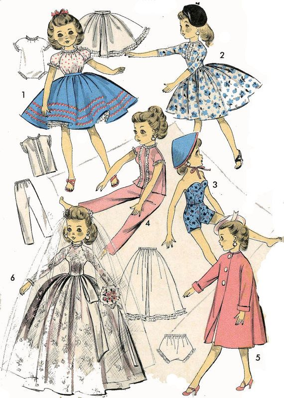 Vintage Doll Clothes PATTERN 8453 for 18 inch by BlondiesSpot, $10.99