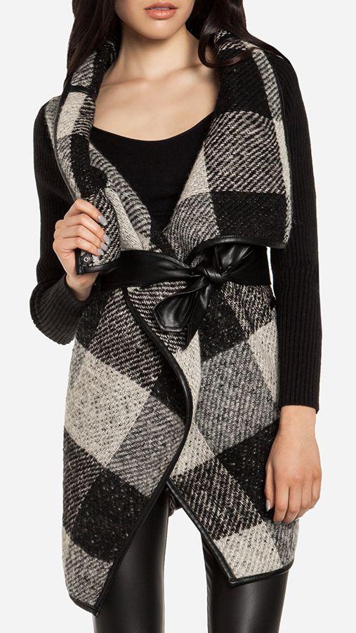 Gingham Wrap Coat
