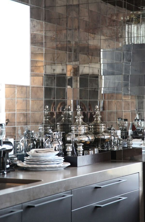 Mimosa Lane: Kitchens || Mirror Tiles