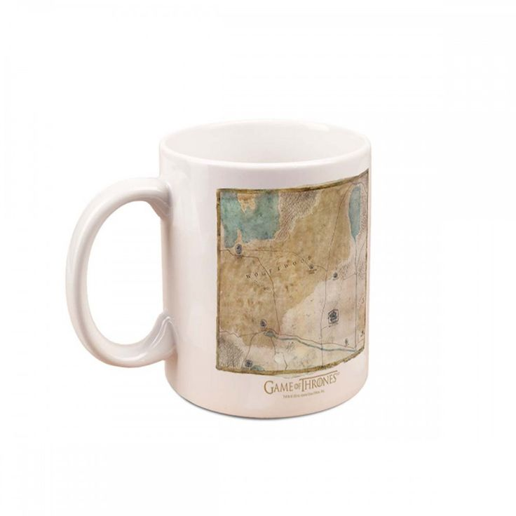 Game of Thrones Jon Snow Map Mug