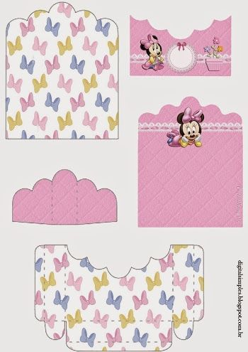 Lovely Minnie Baby: Free Printable Candy Package Support.