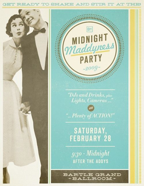 Invite | Inspired: Mad Men Wedding