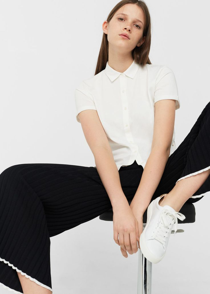 Cotton basic polo shirt | MANGO