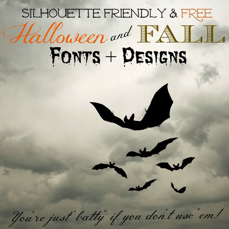 Silhouette Friendly & (mostly) FREE Fall Fonts and Halloween Designs ~ Silhouette School