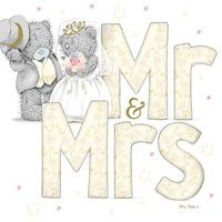Mr and Mrs Wedding Me to You Bear Card