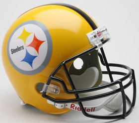 Pittsburgh Steelers 75th Anniversary Throwback Riddell Deluxe Replica Helmet Z157-9585598795