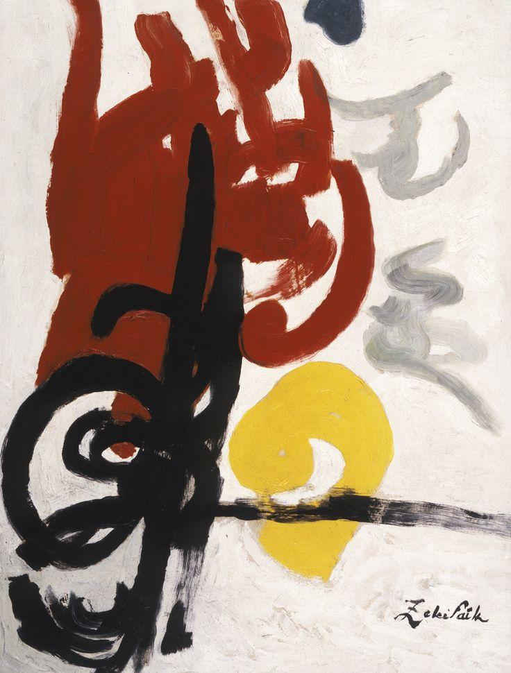 Untitled (Black Tughra) by Zeki Faik Izer, ca.1975