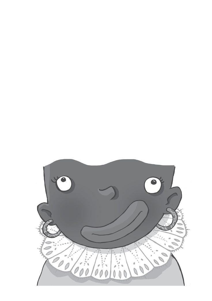 Zwarte Piet zonder krullen