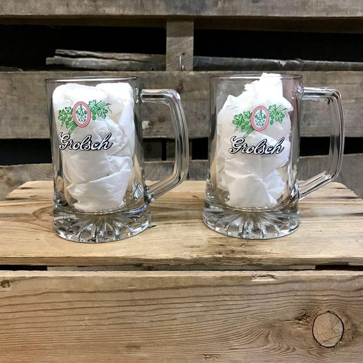 Pair of Vintage Collectors Grolsch Beer Mugs
