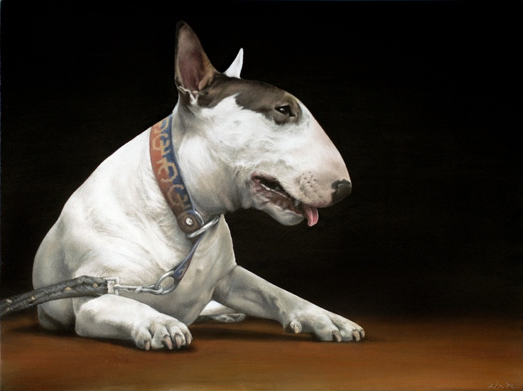 'Big Bully'  Oil on Canvas © Alex Bacskay 2004.  Actual size: 560x750mm