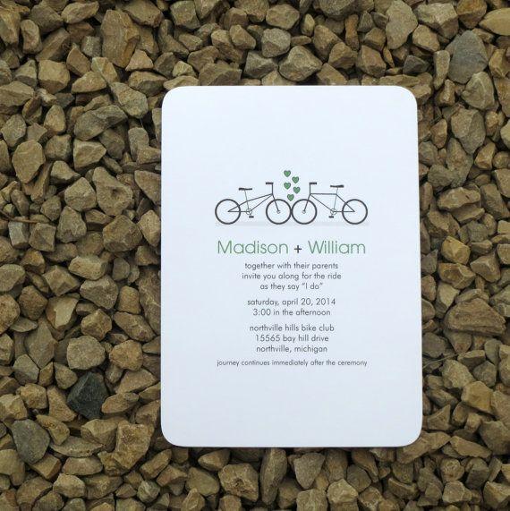 Wedding Invitation Bicycle Wedding Invitation   by StelieDesigns, $30.00