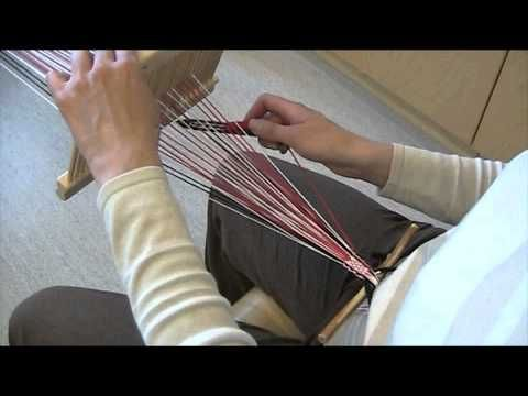 Pirtanauha, osa 9: Kuviolangoista poimittu kuviollinen pirtanauha. - YouTube