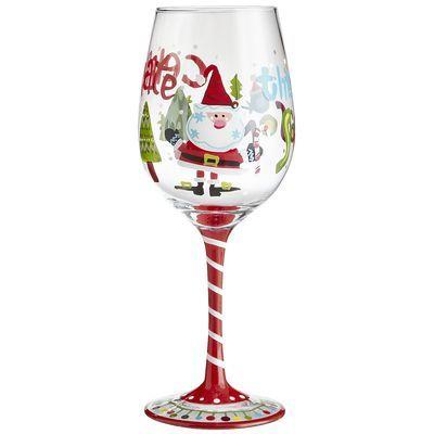 113 best wine glasses images on pinterest painting on for Santa glasses for crafts