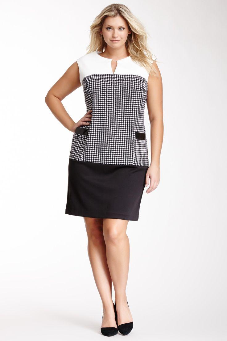 Sandra Darren Sleeveless Drop Waist Dress - Plus Size. Think in diff colours????