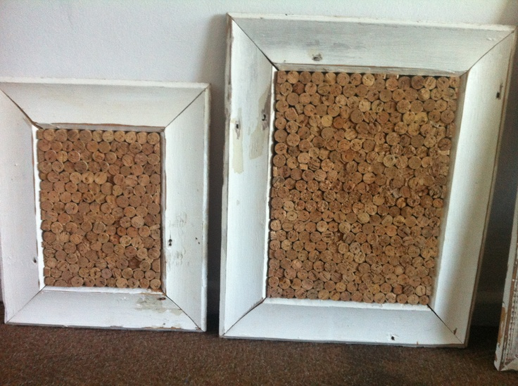 a sneak peek of a couple of corkboards made in the newly created workshop . . .
