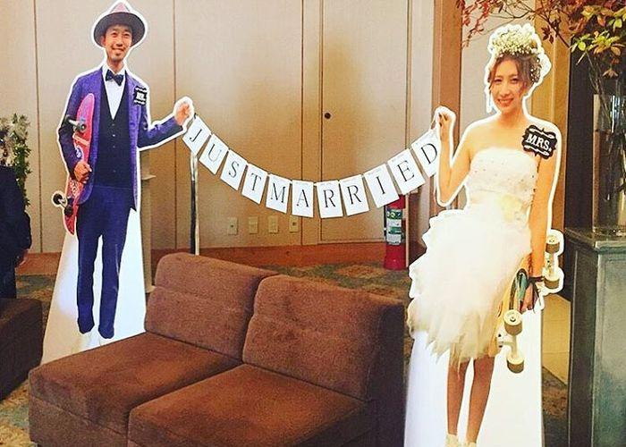 結婚式で自分たちの等身大パネルを作る?!