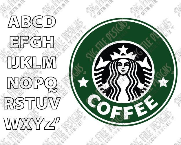 Make Your Own Custom Starbucks Logo Cut File Set in SVG, EPS, and DXF