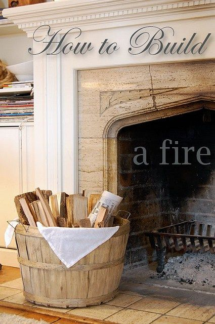 How To Build A Fire!  A REALLY REALLY AWESOME COZY FIRE THAT LASTS!