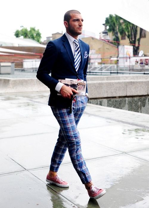 Style: Men Clothing, Trousers, Casual Shoes, Men Style, Street Style, Menstyle, Men Fashion, Pink Shoes, Plaid Pants