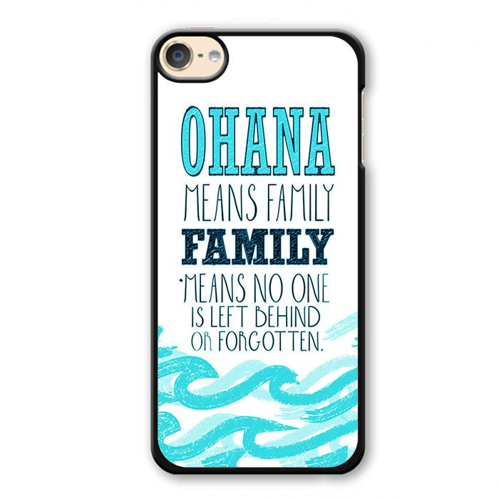 New Ohana Means Family Lilo And Stitch Apple Phonecase For Ipod Touch 4 Ipod Touch 5 Ipod Touch 6 3