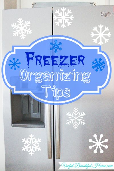 Upright Freezer Organization Tips. Tips to help with storing freezer meals and once a month cooking OAMC