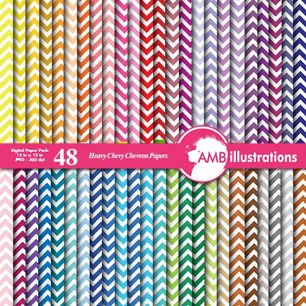 80%OFF Chevron papers in 48 colors Chevron Digital paper Chevron background commercial use scrapbooking backgrounds AMB-530