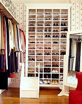 If you have the right place for it - perhaps integrated with a mud room - one centralized location for everyone's shoes.  Their individual closets (and rooms) would be much less cluttered, not to mention the living room, dining room, etc.