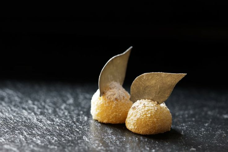 potato and crab at our Michelin star restaurant Kokkeriet, Copenhagen - Denmark.