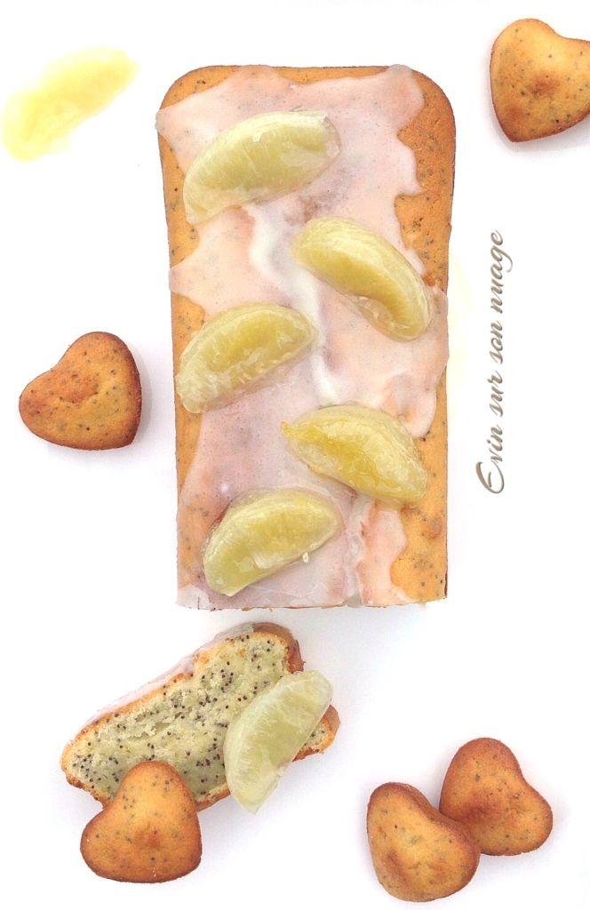 Cake aux deux citrons et graines de pavot