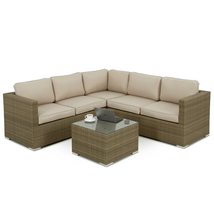 A perfect space to unwind in the garden, the Maze Rattan Porto in Tuscany weave is the ideal sofa for relaxation. With thick padded seat and back cushions, you won't want to get up. The Tuscany weave can be left to the elements all year round and the coffee table is topped with safety glass for your peace of mind. Why not relax with a glass of wine or two on this luxurious sofa.