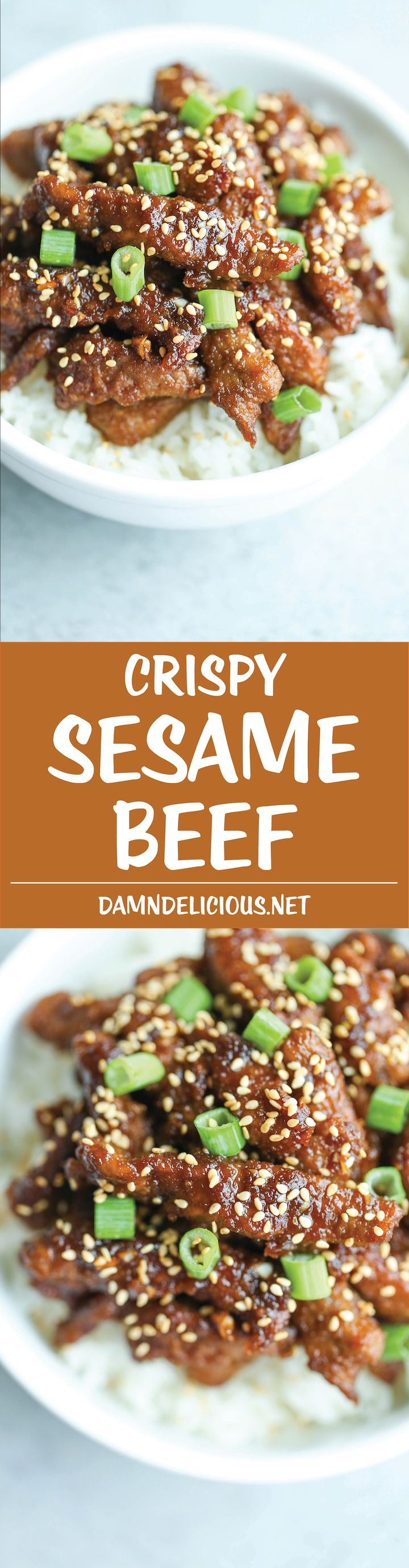 Crispy Sesame Beef - Restaurant-quality, amazingly crispy beef made in just 30 min with less oil - you won't even be able to tell the difference!