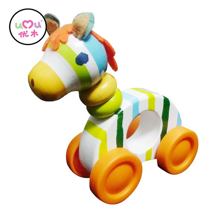 [Umu] Creature Blocks Wooden Toys Wood Cute Horses 2017 Building Blocks Adorable Little Horse Baby Toys For Children Meng Horse