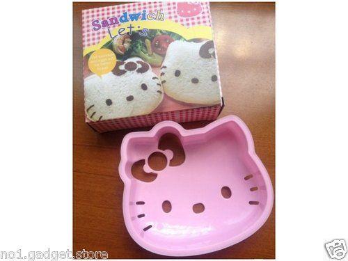 Hello Kitty/ Cute Bear Bread Mould Sandwich Cutter Breakfast Lunchbox Kids | eBay