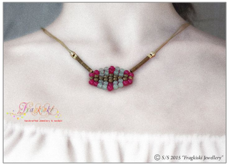 Boho Beaded Necklace by Fragkiski on Etsy