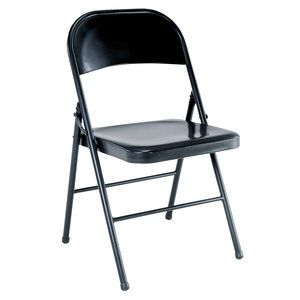 Mainstays Steel Chair, Black