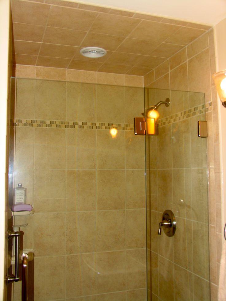 stand up shower tile | Tile Work | Pinterest | Showers ...