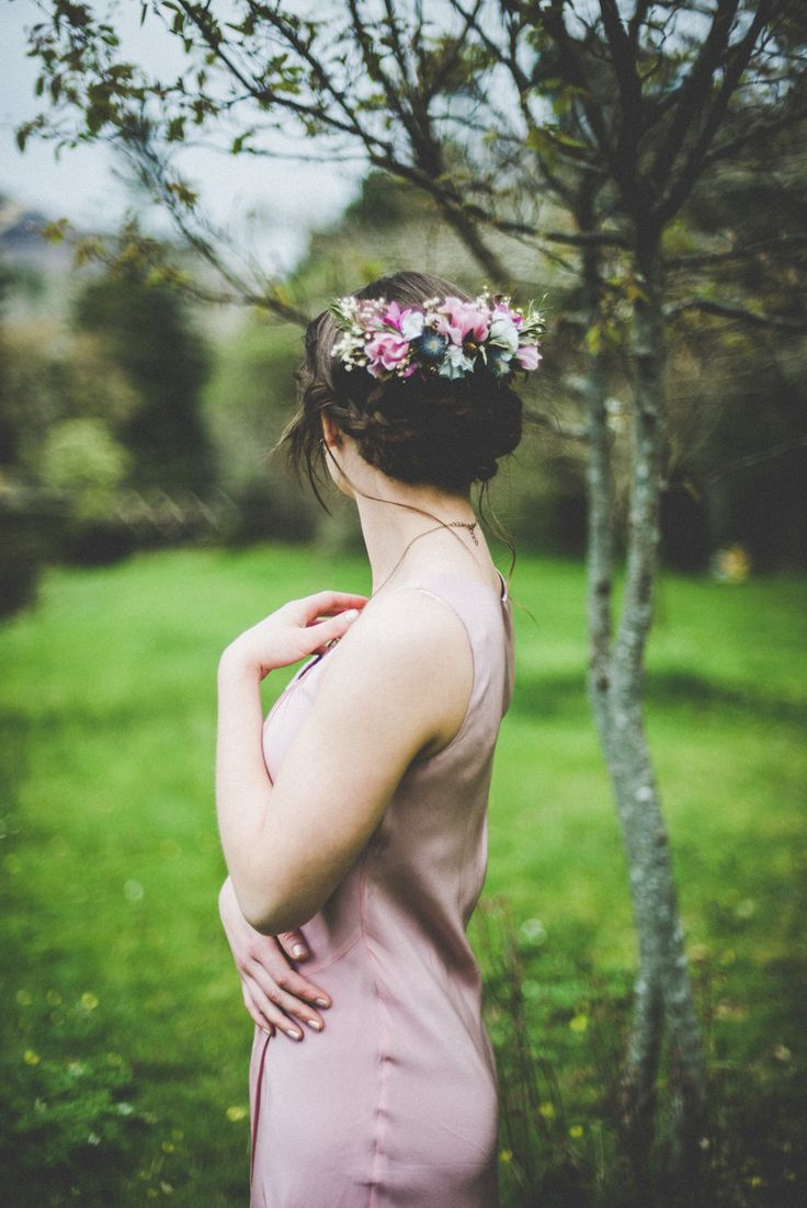 Boho Bridesmaid, Alice Halliday headpiece and styling, Rosa O hair & makeup, Kate Bean Photography, Wildflower Weddings