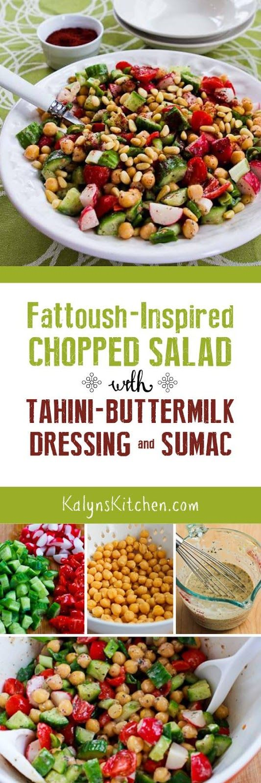 Fattoush-Inspired Chopped Salad with Tahini-Buttermilk Dressing, Sumac ...