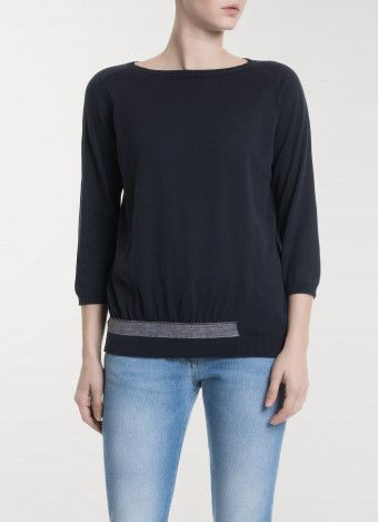 Cotton sweater, bay blue