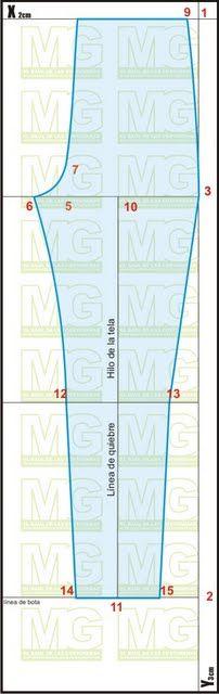 Trazado patrón base de pantalón Delantero | EL BAÚL DE LAS COSTURERAS (hay link para trazar la parte trasera)