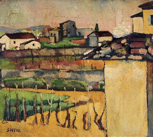 Ardengo Soffici - Casolari rustici, 1920