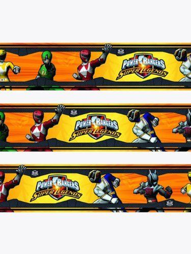 Power Rangers Self Adhesive Border  Super Legends  Design by Leisurebrands   http. 8 best Power rangers bedroom images on Pinterest