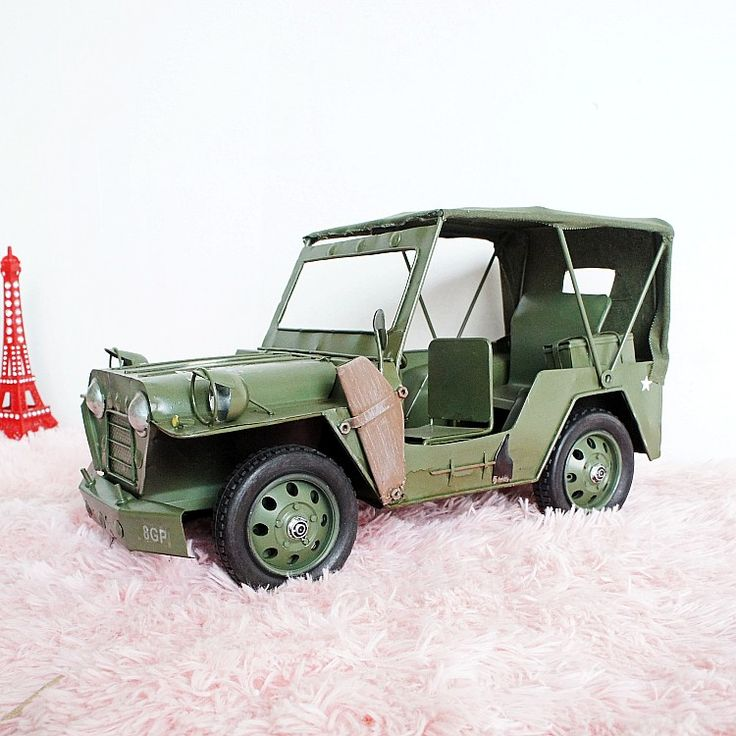 Handmade crafts metal model classic cars Hummer Cars creative shooting props Modern Home Decoration