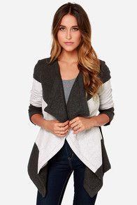 BB Dakota Katia Grey Wrap Coat