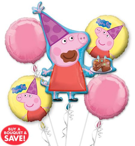 Peppa Pig Balloon 30in x 33in - Giant - Party City