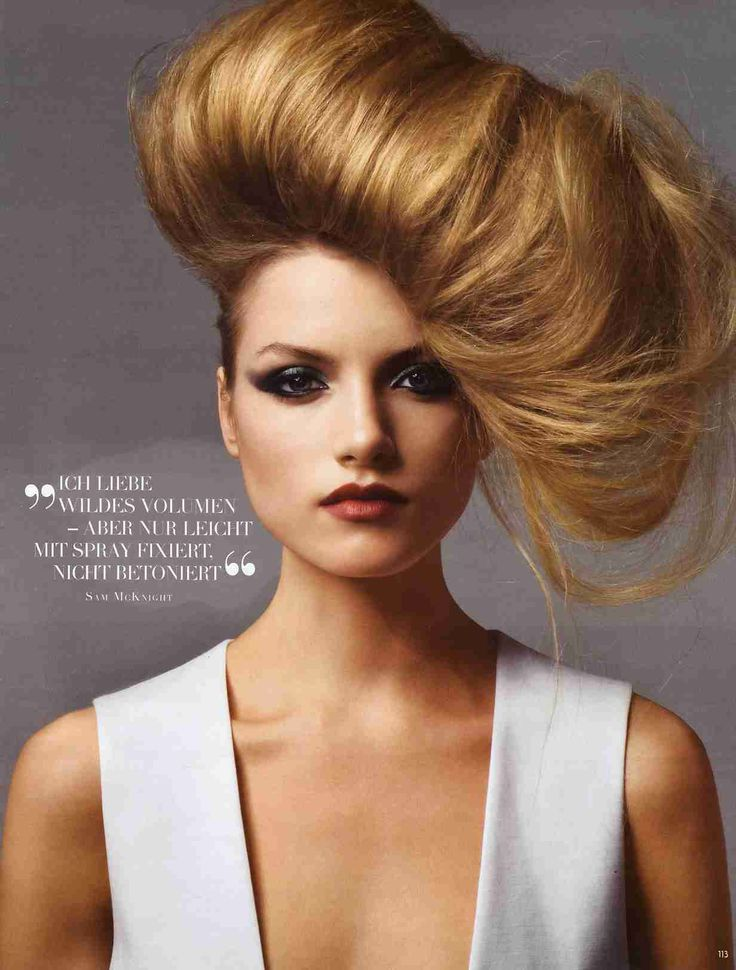 Vogue Germany April 2009 Hair Editorial featuring Emma Maclaren