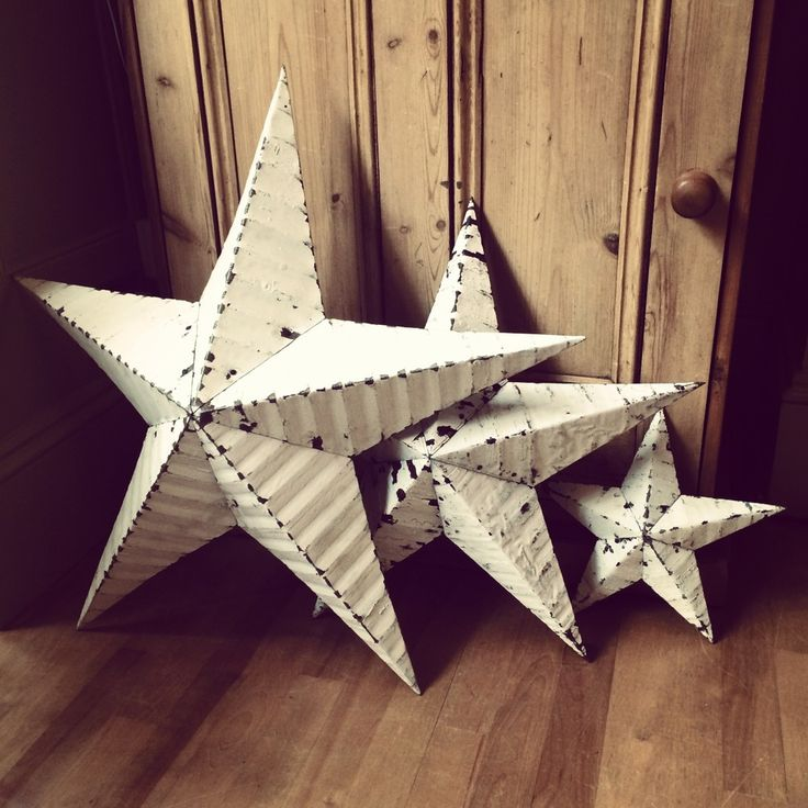 12, 22, 29 inch white Amish Barn star, handmade by Amish farmers in the US.