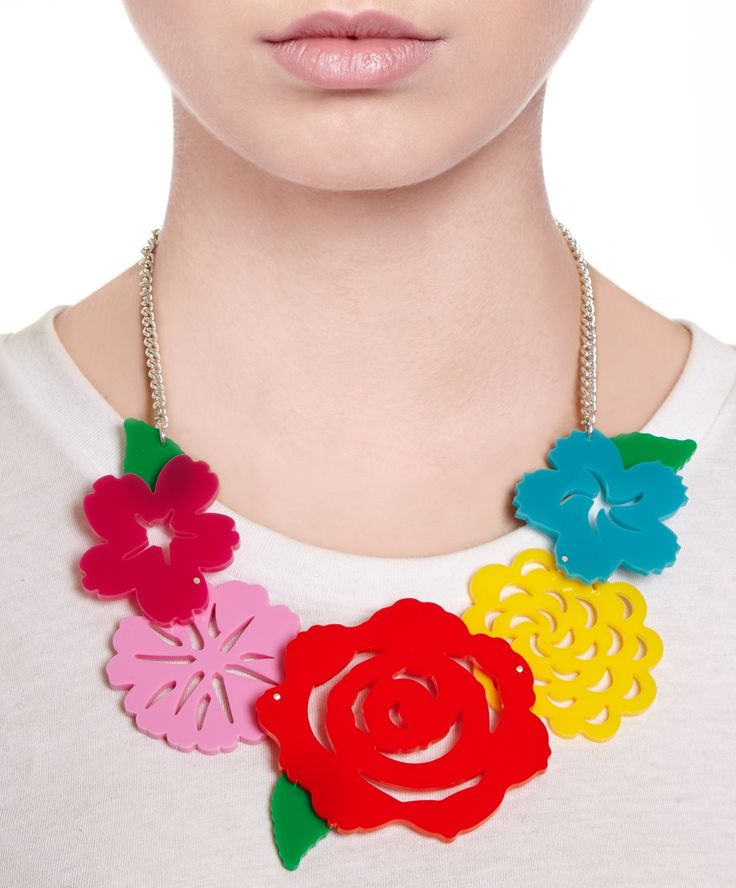 Mexican Flower Statement Necklace