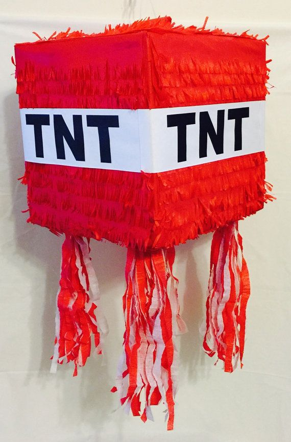 Ready to Ship TNT Pinata Red Color by Theperfectpinata on Etsy